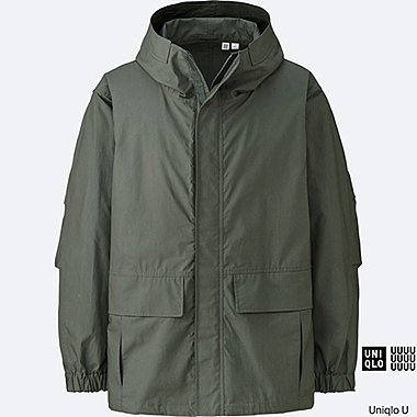 MEN U COTTON PARKA, OLIVE, medium
