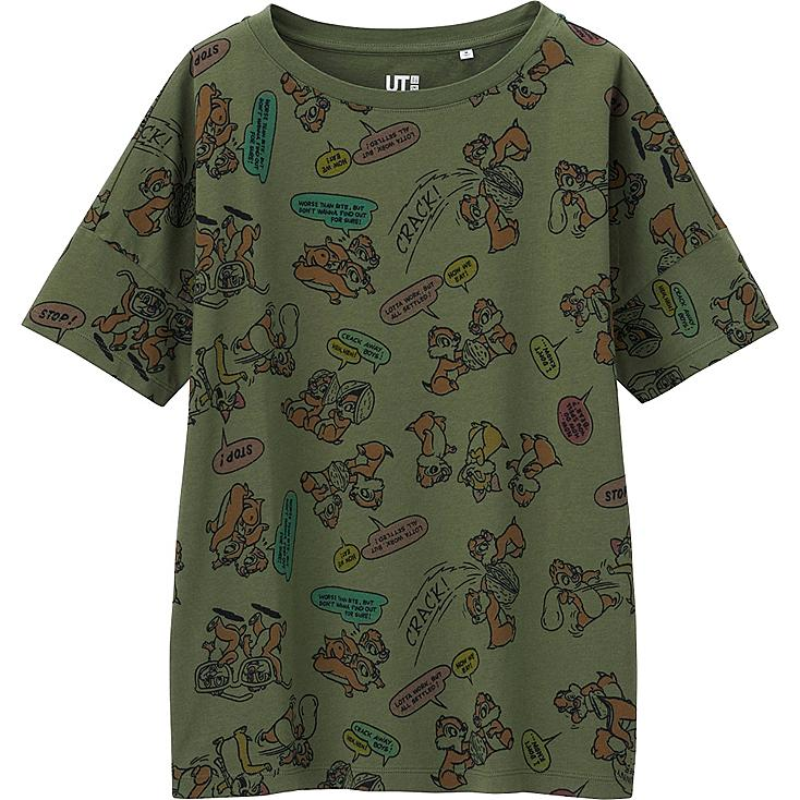 WOMEN DISNEY PROJECT SHORT SLEEVE GRAPHIC T-SHIRT, OLIVE, large