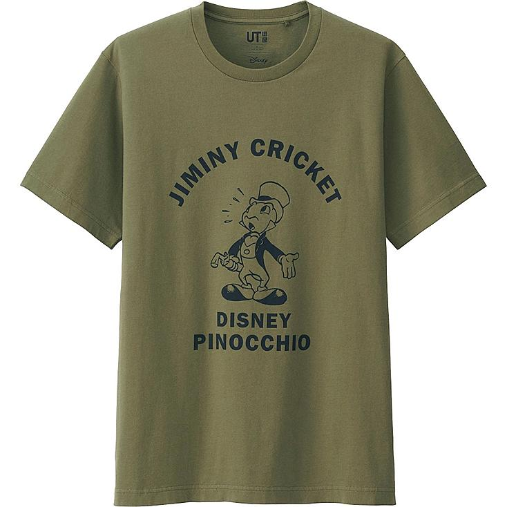 MEN DISNEY PROJECT SHORT SLEEVE GRAPHIC T-SHIRT, OLIVE, large
