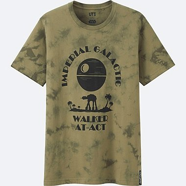 MEN STAR WARS SHORT SLEEVE GRAPHIC T-SHIRT, OLIVE, medium