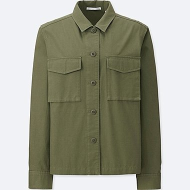 WOMEN Military Shirt Jacket