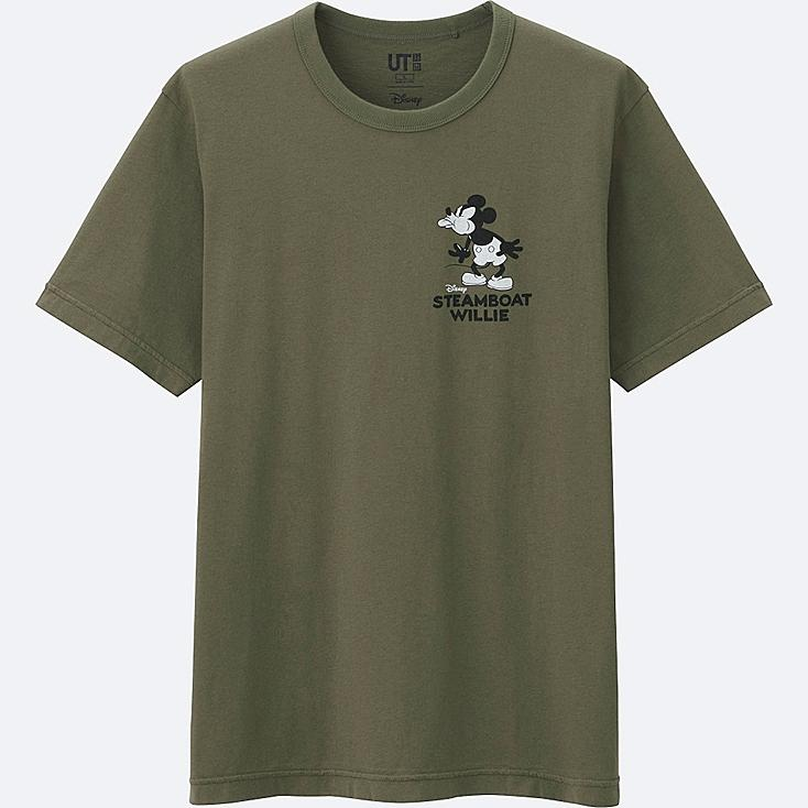 MEN DISNEY COLLECTION SHORT SLEEVE GRAPHIC T-SHIRT, OLIVE, large