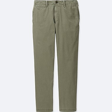 Men Vintage Regular Fit Chino Pants, OLIVE, medium