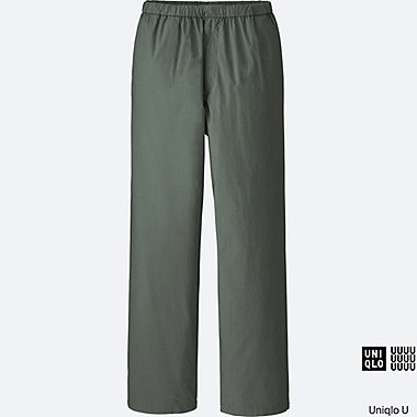 MEN U RELAXED WIDE PANTS, OLIVE, medium