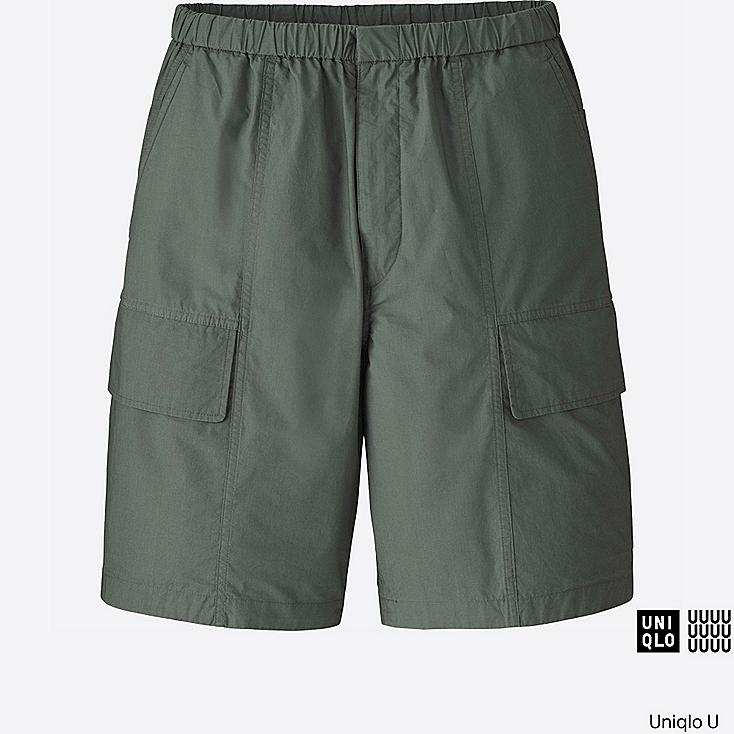 MEN U RELAXED CARGO SHORTS, OLIVE, large