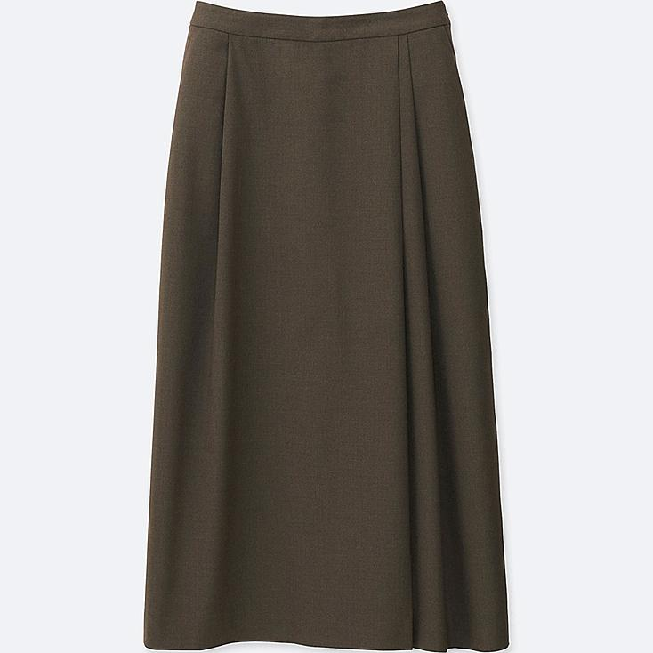 WOMEN PLEATED WIDE LEG FLARE PANTS | UNIQLO US