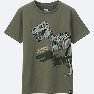 KIDS Discovery Channel SHORT SLEEVE GRAPHIC T-SHIRT, OLIVE, medium