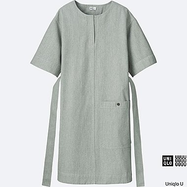 WOMEN Uniqlo U Melange Short Sleeve Sack Dress