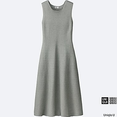 WOMEN Uniqlo U Cotton Flare Sleeveless Dress
