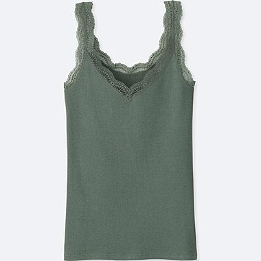 WOMEN 2Way Reversible Ribbed Lace Tank Top