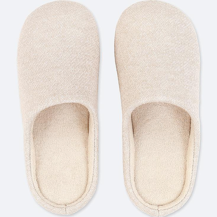 SLIPPERS, IVORY, large