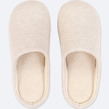 SLIPPERS, IVORY, medium