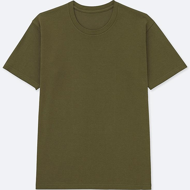 MEN PACKAGED DRY CREW NECK SHORT-SLEEVE T-SHIRT, OLIVE, large