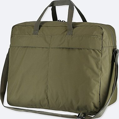 POCKETABLE BOSTON BAG, OLIVE, medium