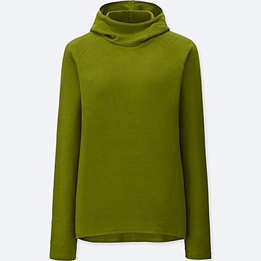 WOMEN HEATTECH STRETCH FLEECE PULLOVER HOODIE