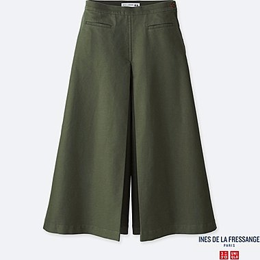 WOMEN IDLF COTTON CULOTTE PANTS, OLIVE, medium