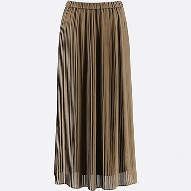 WOMEN HIGH WAIST CHIFFON PLEATED SKIRT