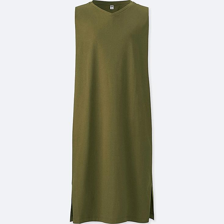 Women Jersey Sleeveless Dress by Uniqlo