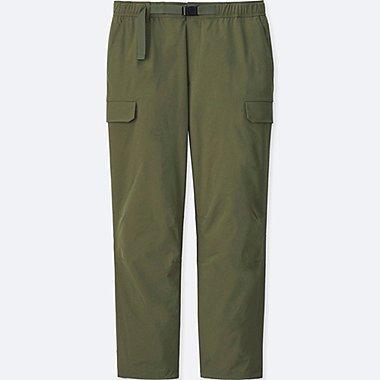 MEN STRETCH CARGO ANKLE PANTS, OLIVE, medium
