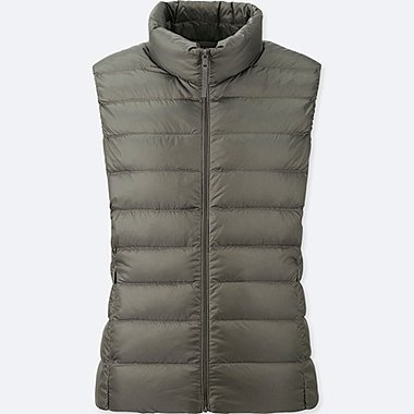 WOMEN ULTRA LIGHT DOWN VEST, OLIVE, medium