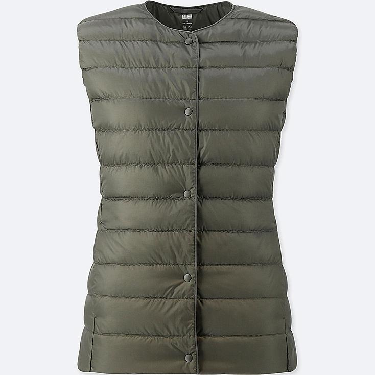 WOMEN ULTRA LIGHT DOWN COMPACT VEST, OLIVE, large