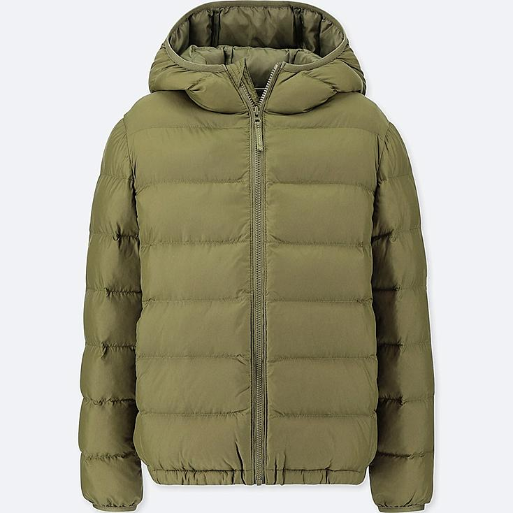 BOYS LIGHT WARM PADDED PARKA, OLIVE, large
