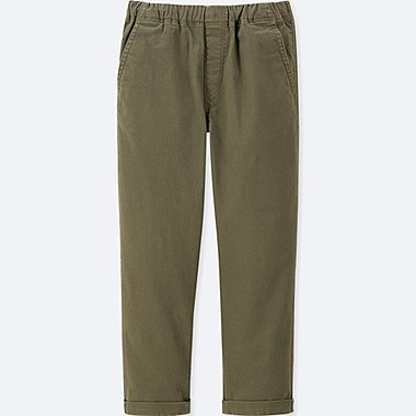 BOYS ULTRA STRETCH RELAXED TAPERED ANKLE PANTS, OLIVE, medium