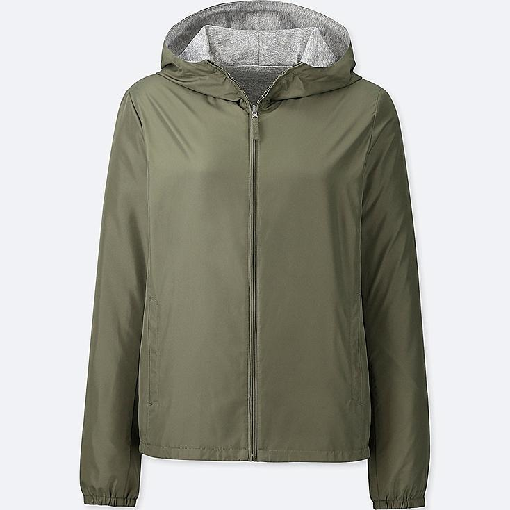 WOMEN REVERSIBLE PARKA, OLIVE, large