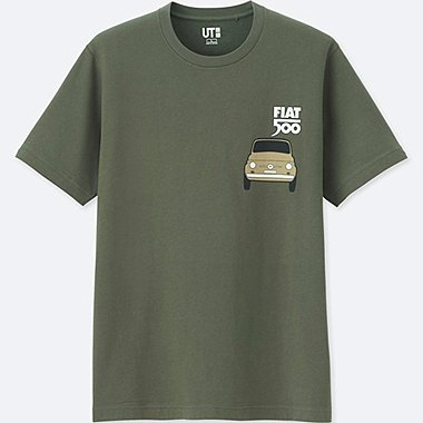 THE BRANDS SHORT-SLEEVE GRAPHIC T-SHIRT (FIAT 500), OLIVE, medium
