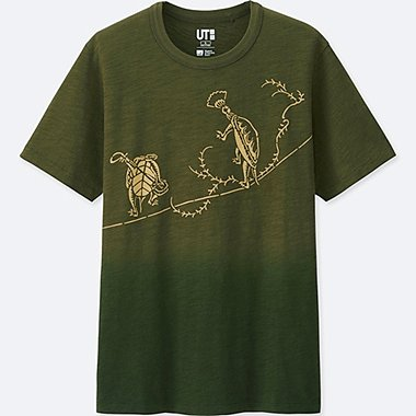MEN KATAGAMI SHORT-SLEEVE GRAPHIC T-SHIRT, OLIVE, medium