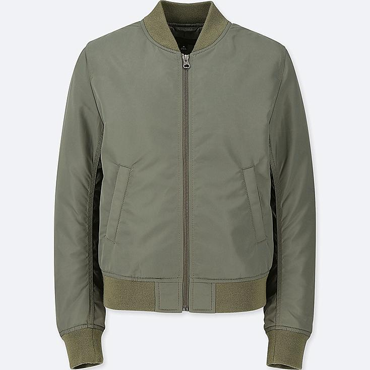 WOMEN MA-1 BOMBER JACKET (ONLINE EXCLUSIVE), OLIVE, large