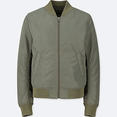 WOMEN MA-1 BOMBER JACKET (ONLINE EXCLUSIVE), OLIVE, medium