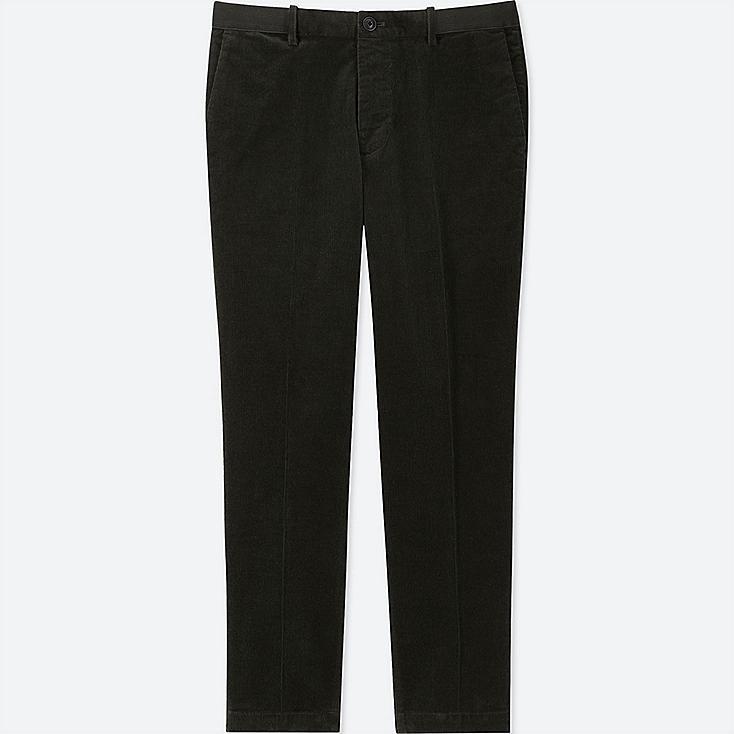 MEN EZY ANKLE-LENGTH PANTS (CORDUROY), OLIVE, large