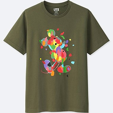 MICKEY ART SHORT-SLEEVE GRAPHIC T-SHIRT (MIKE MILLS), OLIVE, medium