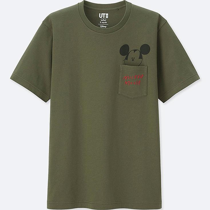 MICKEY ART SHORT-SLEEVE GRAPHIC T-SHIRT (YU NAGABA), OLIVE, large