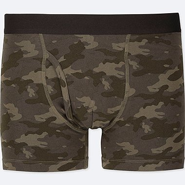 MEN SUPIMA® COTTON BOXER BRIEFS, OLIVE, medium
