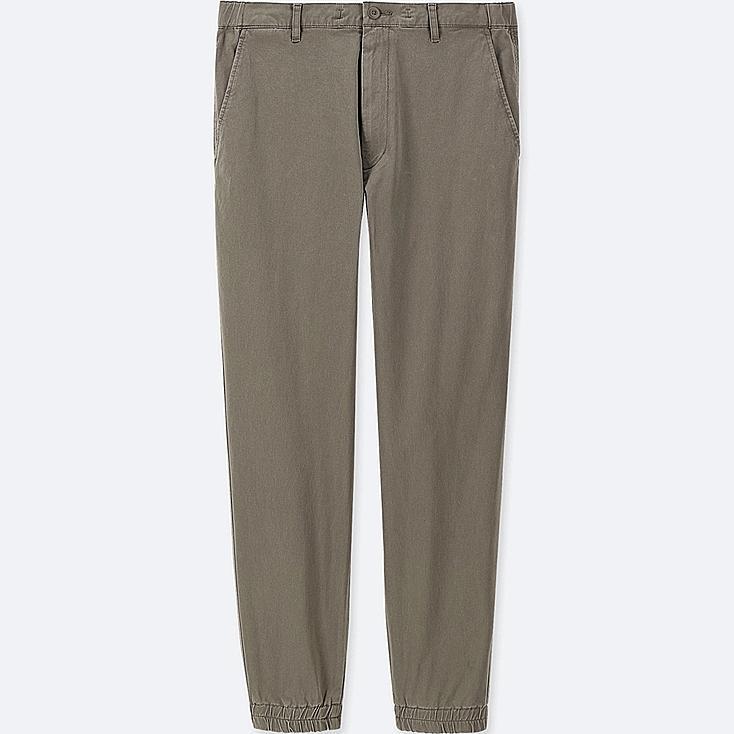 MEN COTTON JOGGER PANTS, OLIVE, large
