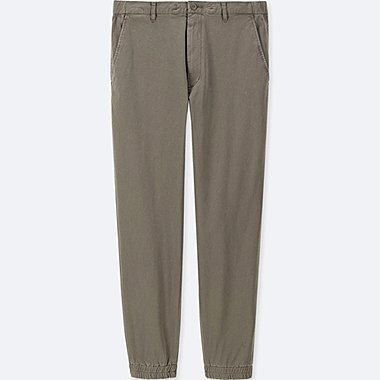 MEN COTTON JOGGER PANTS, OLIVE, medium