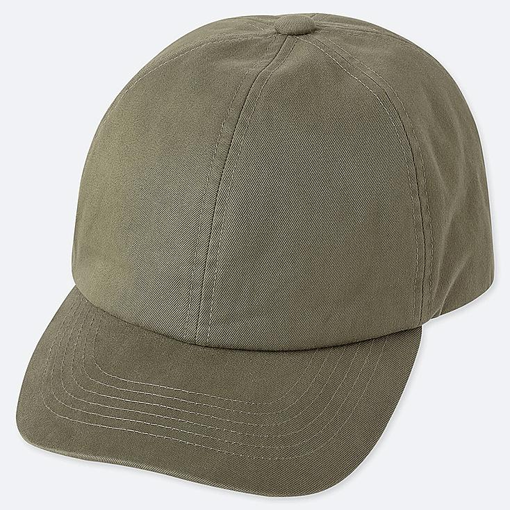 COTTON TWILL CAP, OLIVE, large