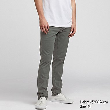MEN EZY SKINNY FIT COLOR JEANS, OLIVE, medium