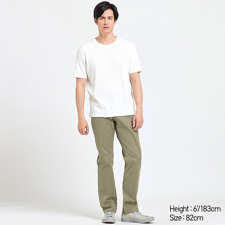 MEN VINTAGE REGULAR-FIT CHINO FLAT-FRONT PANTS, OLIVE, large