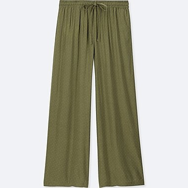 WOMEN Drape Wide Pants (Dot)