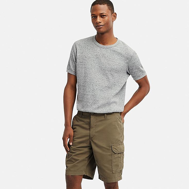 MEN CARGO SHORTS (ONLINE EXCLUSIVE), OLIVE, large