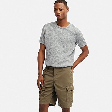 MEN CARGO SHORTS (ONLINE EXCLUSIVE), OLIVE, medium