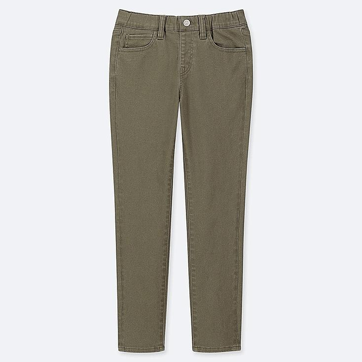BOYS ULTRA STRETCH RELAXED PANTS, OLIVE, large