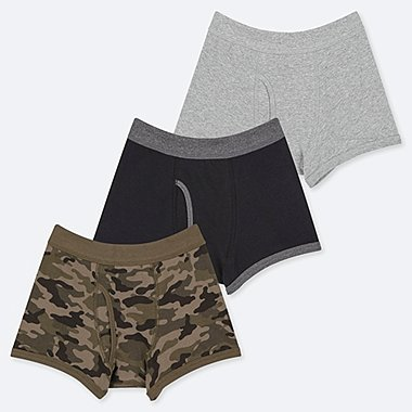 BOYS CAMO PRINT BOXER BRIEFS (THREE PAIRS)