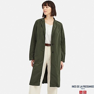 WOMEN DUSTER COAT (INES DE LA FRESSANGE), OLIVE, medium
