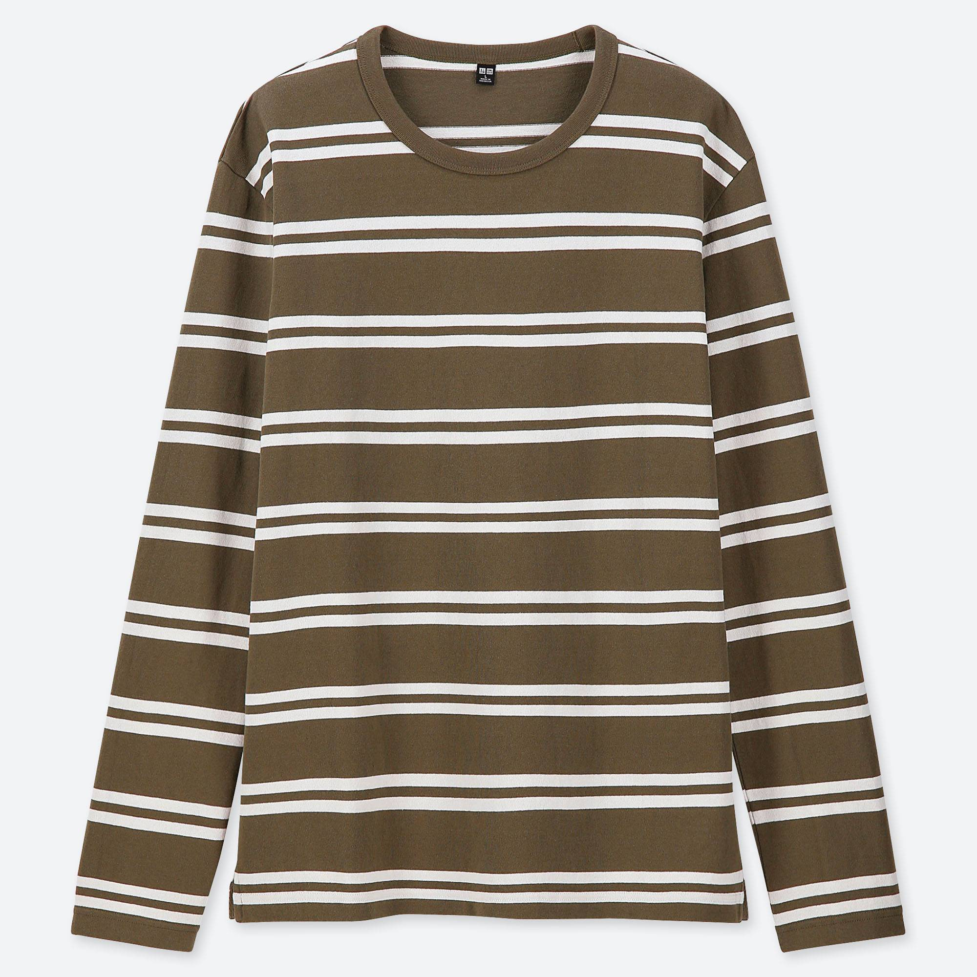 f35bed78a1 MEN WASHED STRIPED LONG-SLEEVE T-SHIRT