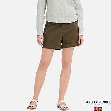 WOMEN INES COTTON LINEN BLEND SHORTS