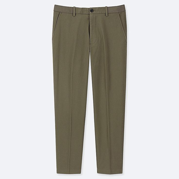"MEN EZY COTTON ANKLE-LENGTH PANTS (TALL 31"") (ONLINE EXCLUSIVE), OLIVE, large"